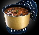 Russell-Hobbs-21850-56-CookHome-Multicooker-900-Watt-5-l-11-Kochprogramme-Anti-Kondensations-Deckel-Warmhaltefunktion-schwarzsilber