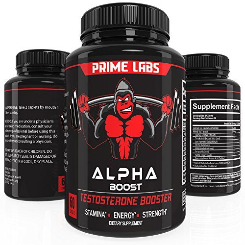 Alpha Boost Testosterone Booster for Strength and Energy, Over The Counter Male Enhancement Pills that Build Muscle Fast, Boost Libido and Burn Fat (Peak Instant compare prices)