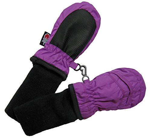 SnowStoppers Kid's Waterproof Stay On Winter Nylon Mittens Extra Small / 6-18 Months Deep Lilac