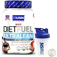 USN Diet Fuel Ultralean Weight Control Meal Replacement Shake Powder (Strawberry Cream)