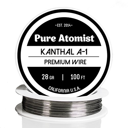 Kanthal A1 Wire 28 AWG Gauge 100' Roll  32mm , 5 27 Ohms/ft