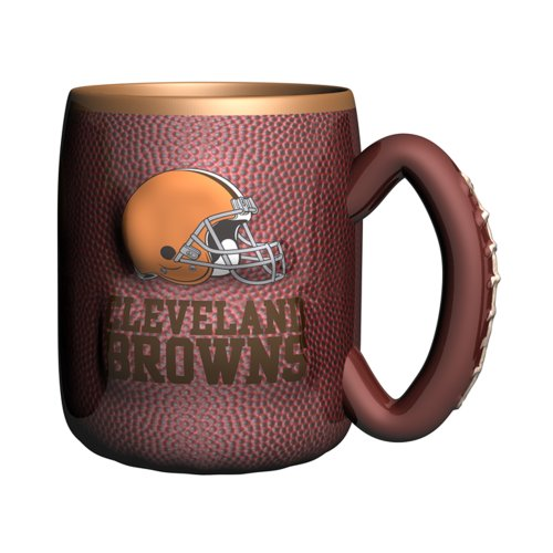 Nfl Cleveland Browns Sculpted Field Mug, 16-Ounce, Brown