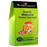 Wedderspoon Organic Manuka Honey Lozenges with Eucalyptus and Bee Propolis, 4 Ounce