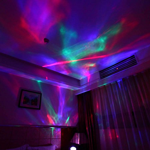 Amir color changing led night light lamp aurora borealis - Color changing room lights ...