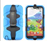 Cozee®Bliss-Case Samsung Galaxy S5 Tough Survivor Military Hard Rugged Shock Proof Heavy Duty Case + Belt Clip Holster - Blue