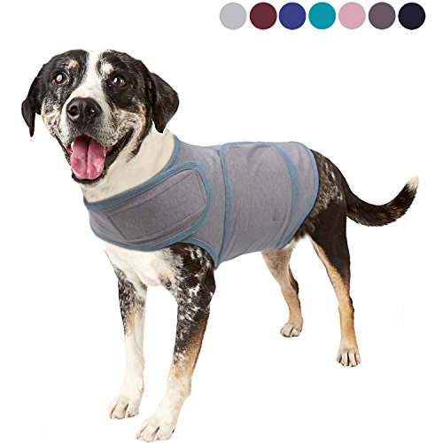 Vivaglory Anxiety Shirt, Stress Relief and Anti-Anxiety Wrap for Dogs, Adjustable, Gray, XS