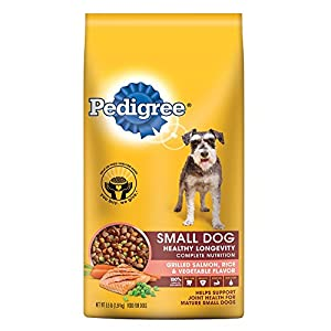 PEDIGREE Small Dog Healthy Longevity Grilled Salmon, Rice and Vegetable Flavor Dog Food 3.5 Pounds
