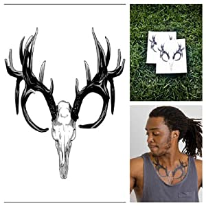 Animal Skull Temporary Tattoo - Proof of Life (Set of 2): Toys & Games