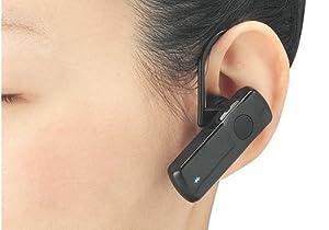 iBUFFALO ヘッドセットBluetooth2.0対応[PC,Andoroid,iPhone4S,携帯電話]対応イヤフック付ブラック BSHSBE10BK