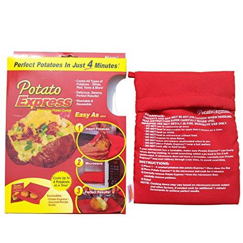 JL avenir Express Micro-ondes de pommes de terre Sac de pommes de terre au micro-ondes Cuisinière de pommes de terre rouge