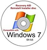 Windows 7 Home Premium 64 Bit SP1 New Full Re install Operating System Boot Disc - Repair Restore Recover DVD