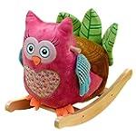 Rockabye Owlivia Pink Owl Rocker, One...