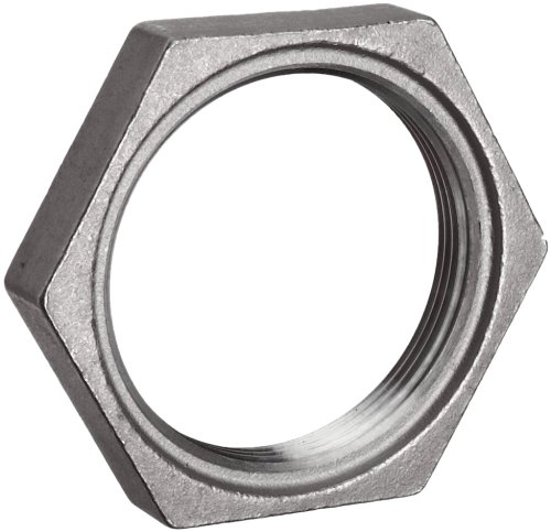 Stainless Steel 304 Cast Pipe Fitting, Hex Locknut, MSS SP-114, 1&quot; NPT Female