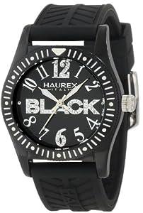 Haurex Italy PN331DN1 - Reloj para niñas de cuarzo, correa de goma color negro