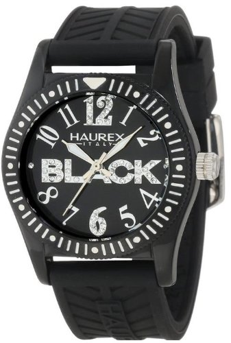 Haurex Italy Childrens Watch PN331DN1 Promise G P with Black Dial and Black Rubber Strap