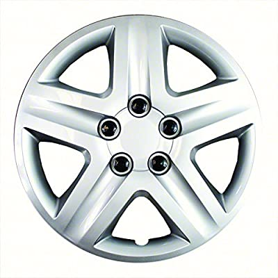 Set of 4 Silver 17 Inch Aftermarket Replacement Hubcaps with Metal Clip Retention System - Part Number: IWC431/17S