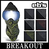 eb's / エビス PIPE MASK フェイスマスク バンダナ スノーボード DOT-WHITE