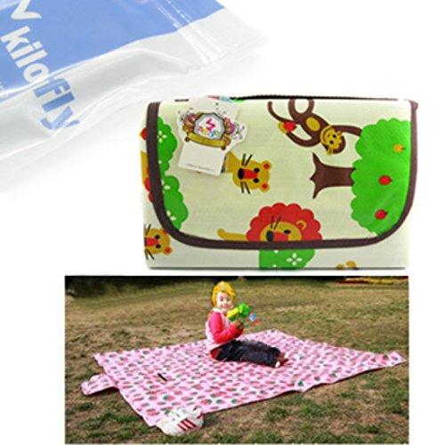 KF Baby Feeding & Play Mat - Happy Jungle (68 x 61 inch)