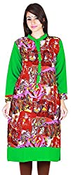 MARMITTE Women's Polyester Empire Kurtas (MMT-38, Multi-Color, S)