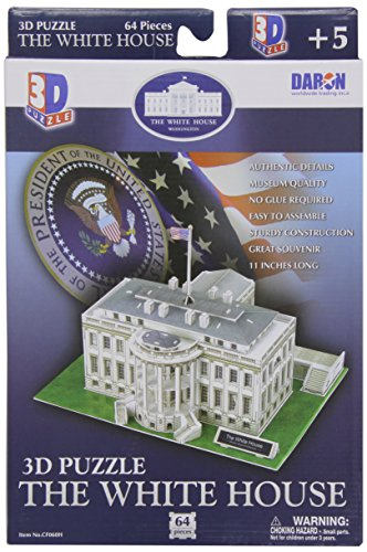The White House 3D Puzzle, 64 Pcs - 1