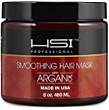 HSI PROFESSIONAL Hydrating smoothing Anti-Frizz Hair Mask for all hair types, infused with vitamins a, b, c, & d. creates silky, smooth and healthy hair. sulfate free. Made in USA. no more split ends