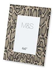 M&S Collection Faux Snakeskin Design Photo Frame 10 x 15cm (4 x 6
