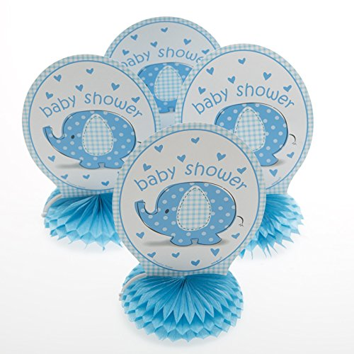 Mini Blue Elephant Baby Shower Centerpieces