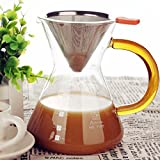 Clever-Coffee-Dripper-Pure-Over-Coffee-Maker-Permanent-Reusable-Stainless-Steel-Coffee-Filter-Brewer-Pyrex-Glass-Paperless-Cone-Coffee-4-Cup-Comenzar