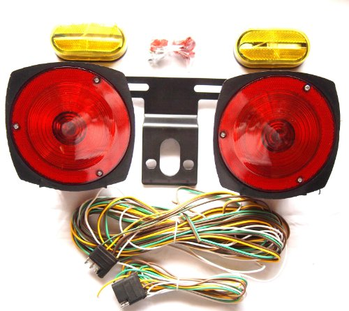 XtremepowerUS 12V Multi-Function Standard Trailer Light Kit Tail Lights Side Markers boat auto truck