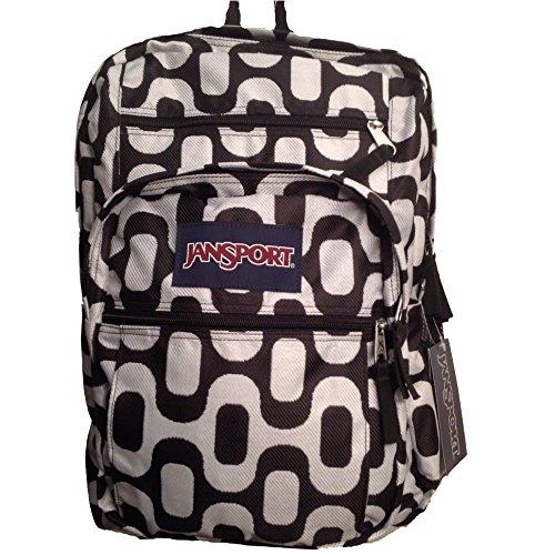 JanSport Big Student Backpack (Black/White Rio Walk)