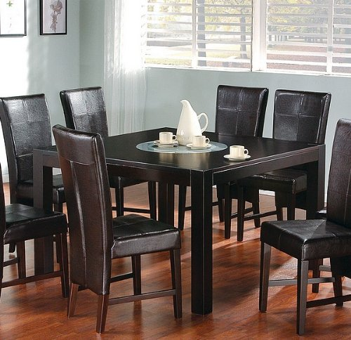 Buy Low Price Coaster Contemporary Cappuccino Finish Dining Table w/Lazy Susan (VF_100971)