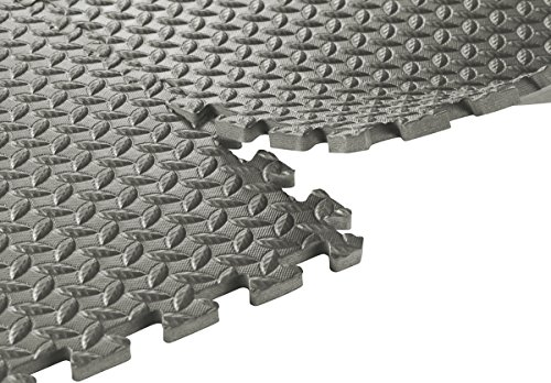Sivan Health And Fitness Interlocking Foam Puzzle Exercise Mats, Grey