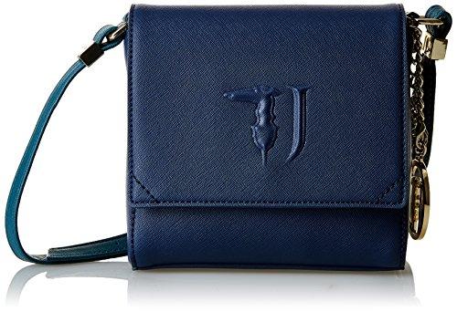 Trussardi Jeans Ischia Borsa a Tracolla, 17 cm, Blu/Verde