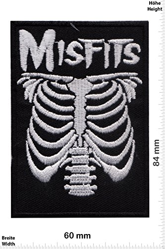 Patch - Misfits - Skeleton - Musica - Misfit - Misfit- Iron on Patch - toppa - applicazione - Ricamato termo-adesivo""