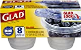 Glad Food Storage Containers, Mini Round, 4 Ounce, 8 Count (Pack of 12)