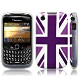 Blackberry Curve 8520 'Cool Britannia Purple' (Designed by Creative Eleven) TPU Gel Skin / Case / Cover Part Of The Qubits Accessories Rangeby CallCandy
