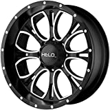 """Helo HE879 Gloss Black Wheel With Machined And Milled Face (17x9""""/5x127mm, +18mm offset)"""