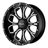Helo HE879 Gloss Black Wheel With Machined And Milled Face (18x9