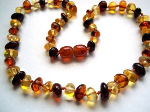 Bouncy Baby Boutiquetm - An27 - Adult Multicolor Certified Authentic Baltic Amber Healing Necklace front-799013