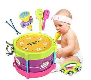 Bebé de dos lados Drum Instrumentos Musicales Niños Drum Set de juguete para niños. - BebeHogar.com