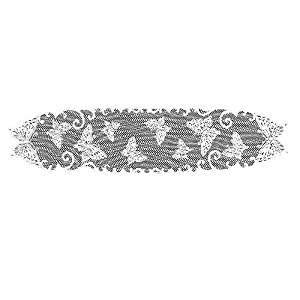 Heritage Lace Butterflies 12-Inch by 54-Inch Runner, White