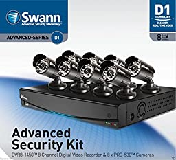 Brand New Swann DVR8-1450 8 Channel Digital Video Recorder with 8 x PRO-530 Cameras