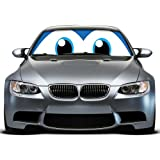 Happy Eyes Car Windshield Sunshade, mAuto Powerful UV Ray Deflector High Quality Jumbo & Reversible Silver