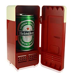 Key Success Red Mini Usb Pc Fridge Beverage Drink Cans Cooler & Warmer