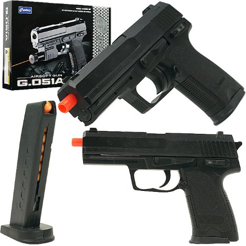 Galaxy 6mm Airsoft Pistol, Black