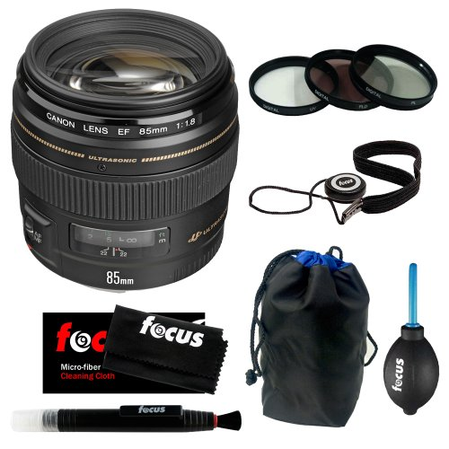 Canon Ef 85Mm F/1.8 Usm Medium Telephoto Autofocus Lens + Deluxe Accessory Kit