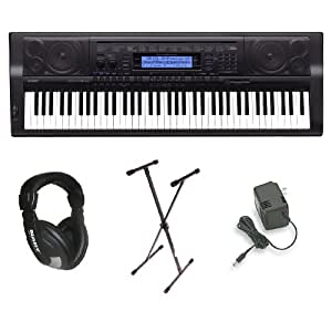 Casio WK-500 76-Key Personal Keyboard Package with Stand, Headphones and Power Supply