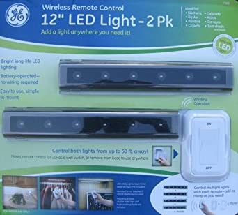 "GE Wireless Remote Control 12"" LED Light - 2 Pack"