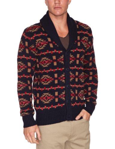 Wrangler Button Folk Knit Mens Cardigan