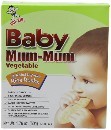 Baby Mum-Mum Vegetable Flavor Rice Biscuit, 24-pieces (Pack of 6) Kids, Infant, Child, Baby Products